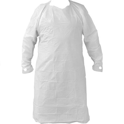 Wholesale isolation gown, white, long sl