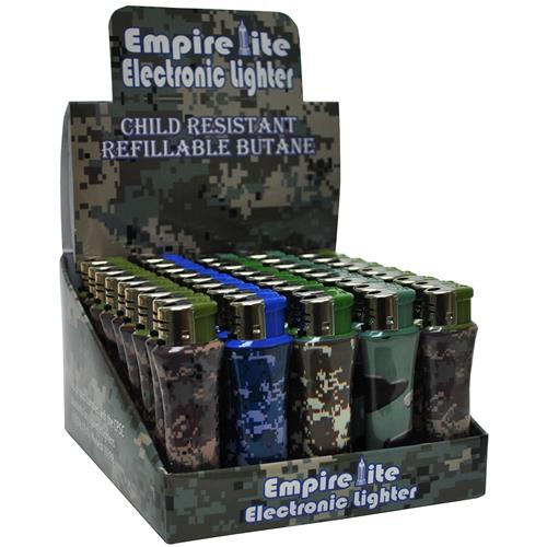 Wholesale Empire Lite Military Camo Lighter in Graphic Count