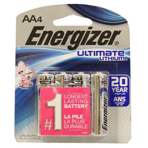 Wholesale 4pk AA LITHIUM BATTERY ENERGIZER