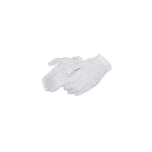 Wholesale Tricot White Nylon Glove Mediu