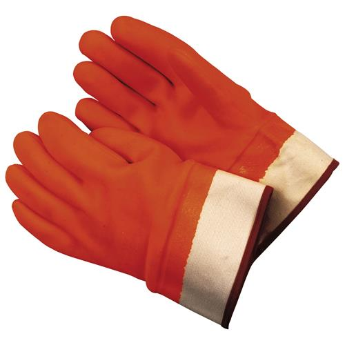 Wholesale Dipped Glove Orange PVC Foam L