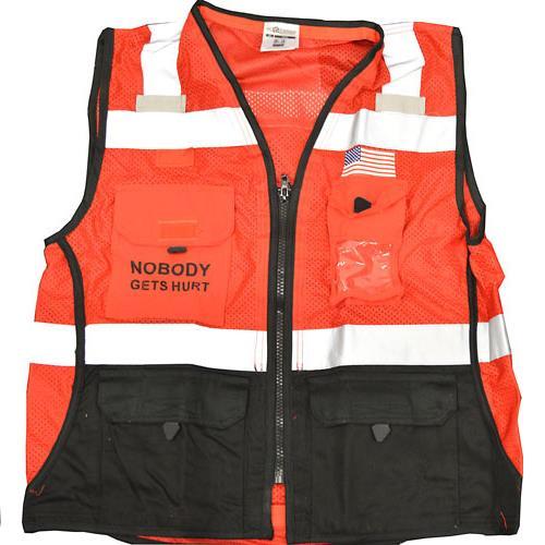 Wholesale Hi Vis Vest, sz S w/3 Kiewit Logos, ANSI 1, Hv Yw Polyester