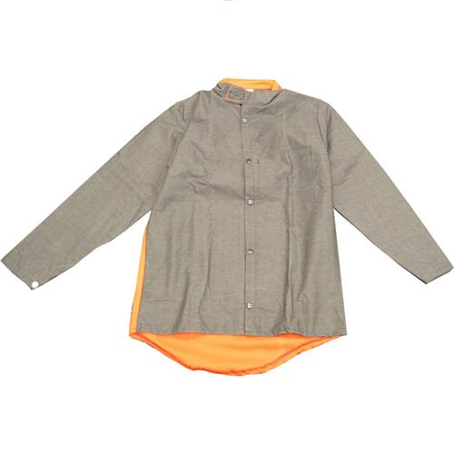 Wholesale Welding Jacket, Sz S, Charcoal CarbonX/Orng Indura, Snap Front Close