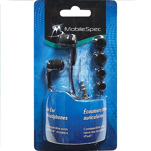 Wholesale Mobilespec Basic In-Ear Earbud Headphone w/Chrome accents for Ipods/Mp3 Player