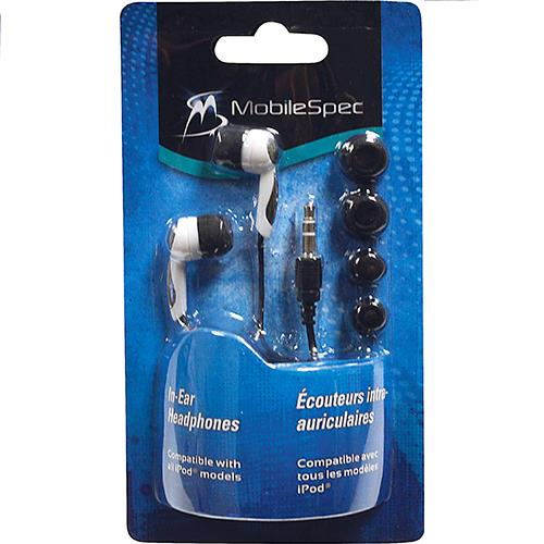 Wholesale MobileSpec In-Ear Headphones Ear buds.  White.