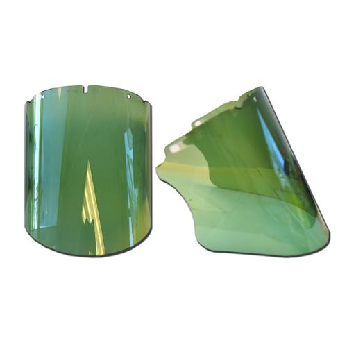 "Wholesale Faceshield, Green, 9.25""x 17""x"