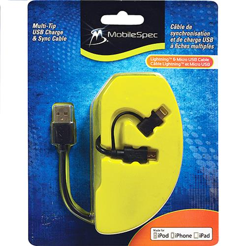Wholesale MobileSpec USB Charging Cable Lighting & Micro-USB