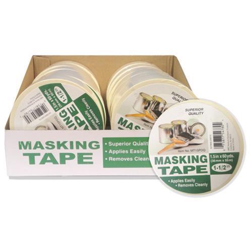 """Wholesale 1.5"""" x 60 YARD MASKING TAPE"""