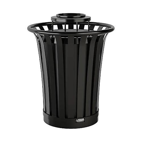 Wholesale 35G OUTDOOR METAL TRASH CAN TOP ACCESS w/LID