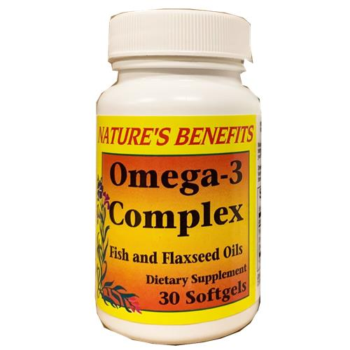 Wholesale NATURES BENEFITS OMEGA-3 COMPLEX 30ct