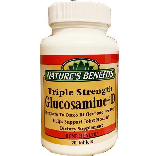 Wholesale NATURES BENEFIT TRIPLE STR GLUCOSAMINE +D 20CT