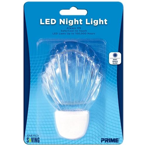 Wholesale LED SHELL NIGHT LIGHT ALWAYS ON SOFT WHITE GLOW