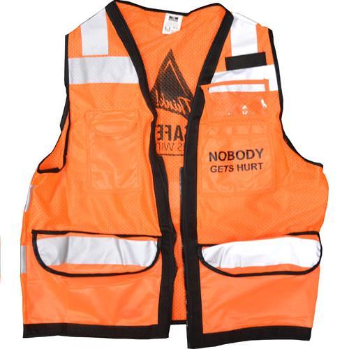 Wholesale Hi Vis FR Vest, Sz M Kiewit Nobody Gets Hurt Logo, Hvo