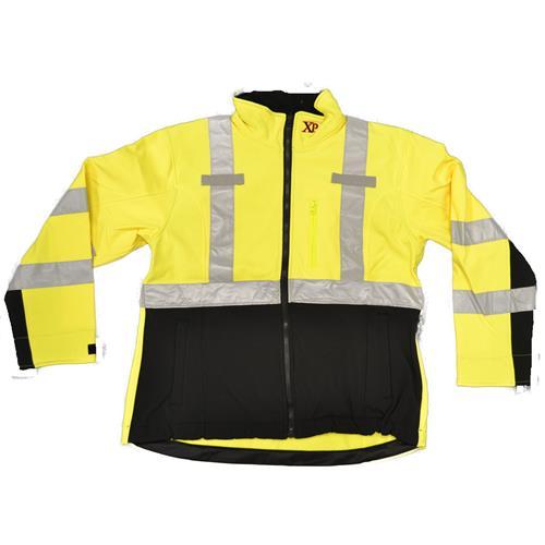 Wholesale Hi Vis Jacket  XP Womens Sz S ANSI 3 HV YW Softshell TPU Water Resist Mic Tabs