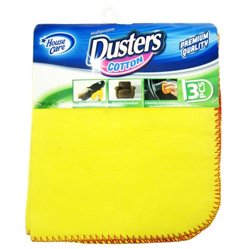"Wholesale 3 Pack Yellow Dusters 13""x15"""