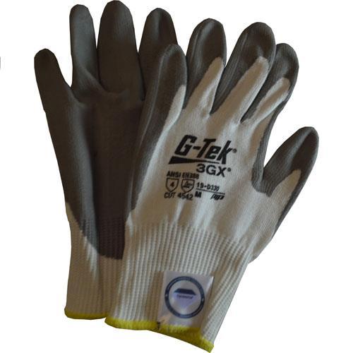 Wholesale Cut Glove, G-Tek, Sz M, 3GX Dyneema, ANSI 4, Gry Pu Palm Coating
