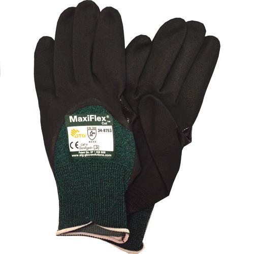 Wholesale Cut Glove, MaxiFlex Cut, Sz 2X, Grn HP Fiber, ANSI 2, 3/4 Dip Blk Micro Foam Ntr