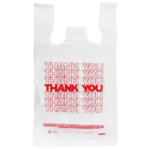 Wholesale 1/6 Thank You T-Shirt Bag 14 Mic Thick 11.5x6.5x22