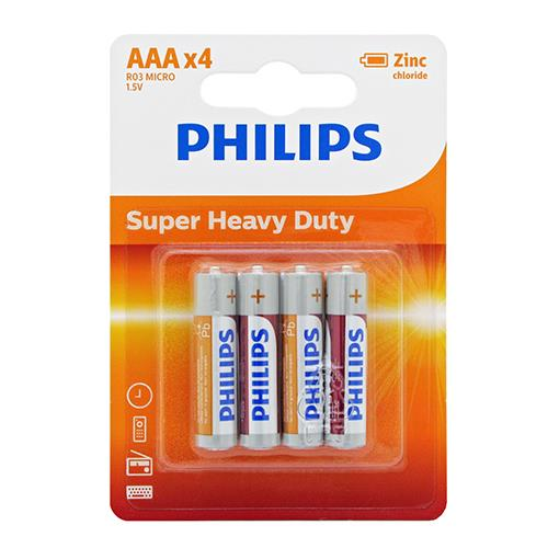 Wholesale Phillips AAA Super Heavy Duty Batteries 4 ct.
