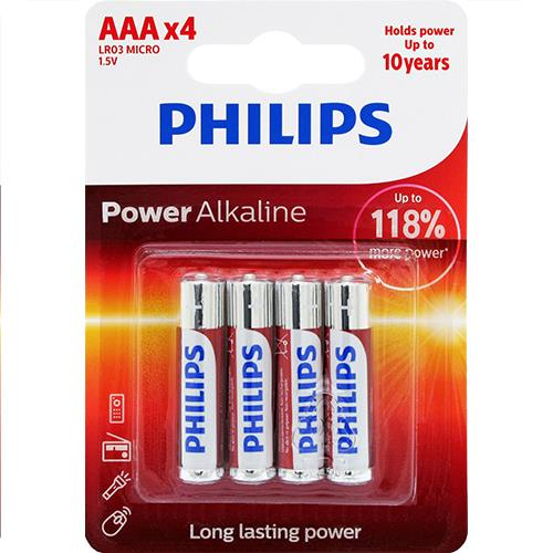 Wholesale 4PK AAA ALKALINE BATTERIES PHI