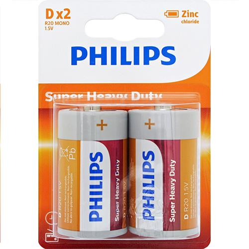 Wholesale Phillips D batteries Super Heavy Duty 2 ct