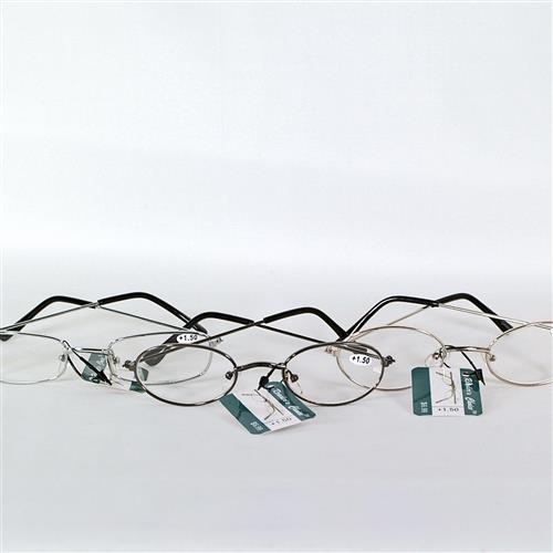 Wholesale Metal Reading Glasses 150 Power assorted Black, Silver and Gold Frames