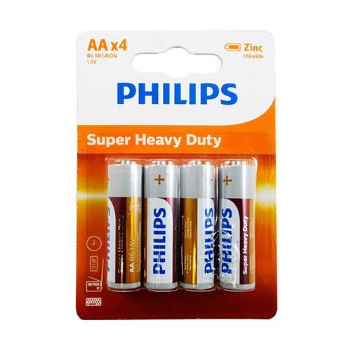 Wholesale Phillips AA Super Heavy Duty Batteries. 4 ct