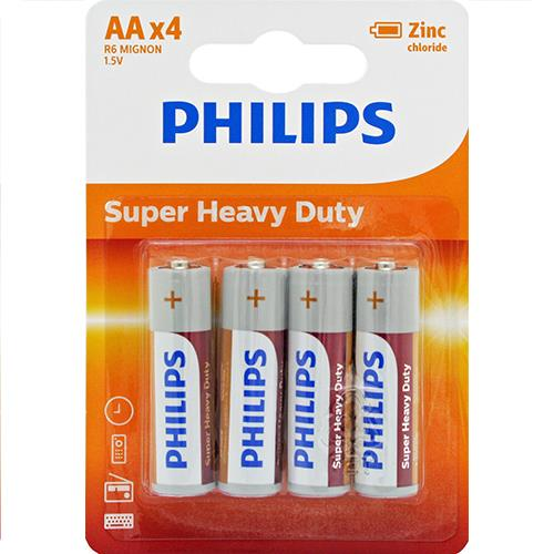 Wholesale Phillips AA Super Heavy Duty Batteries. 4 ct