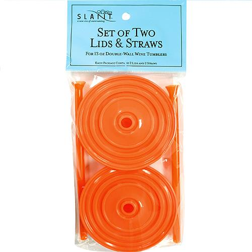 Wholesale 2PK ORANGE LIDS & STRAWS FOR 1