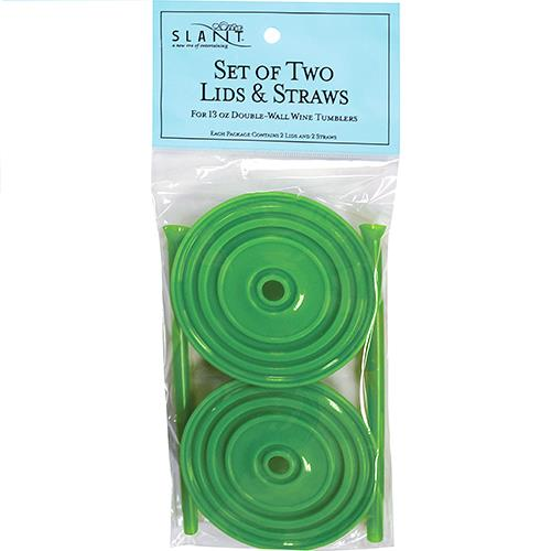 Wholesale 2PK LIME LIDS & STRAWS FOR 13O