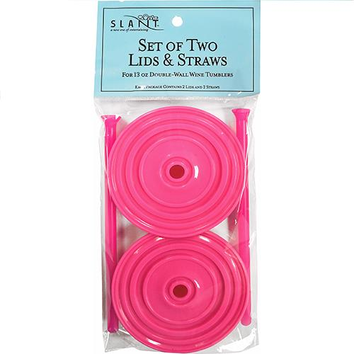 Wholesale 2PK PINK LIDS & STRAWS FOR 13O