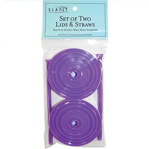 Wholesale 2PK PURPLE LIDS & STRAWS FOR 1