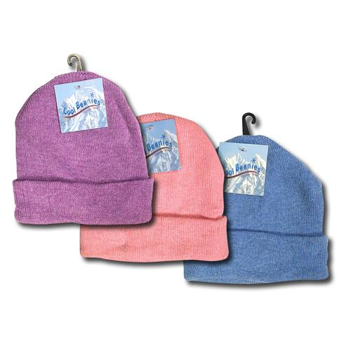 Wholesale Girl's Knit Beanie Hats Assorted Colors