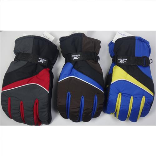 Wholesale Men's Microfleece Ski Gloves Assorted L, XL, 2XL