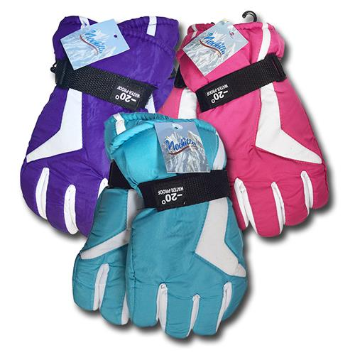 Wholesale Microfleece Ladies Ski Gloves Assorted