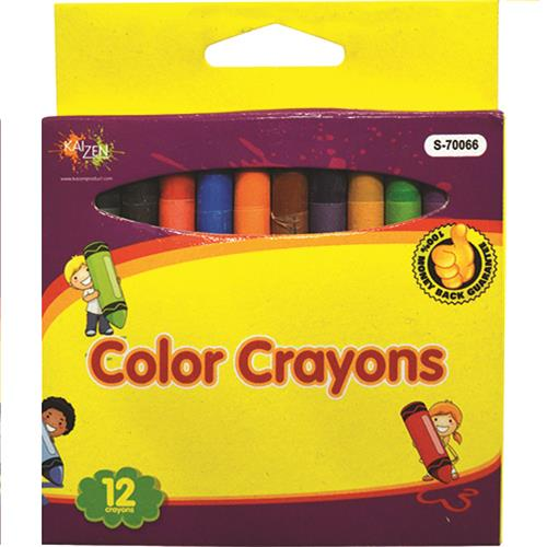 Wholesale 12 Piece Color Crayons in Peggable Box