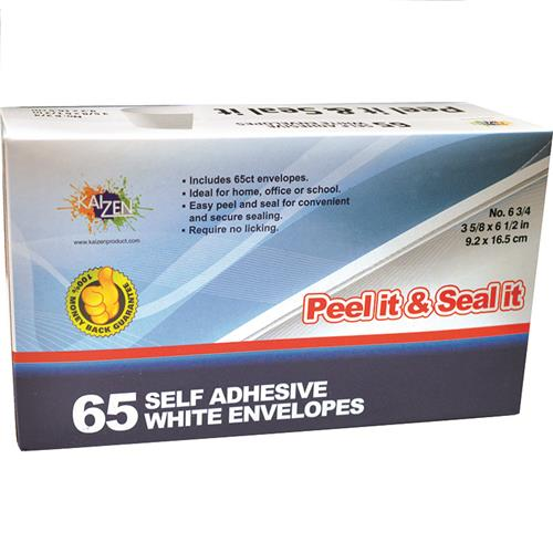 Wholesale Peel & Seal White Envelopes #6.75