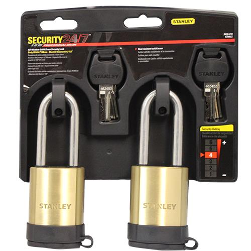 "Wholesale 2PK 2"" SOLID BRASS SECURITY LOCK SET KEY ALIKE"
