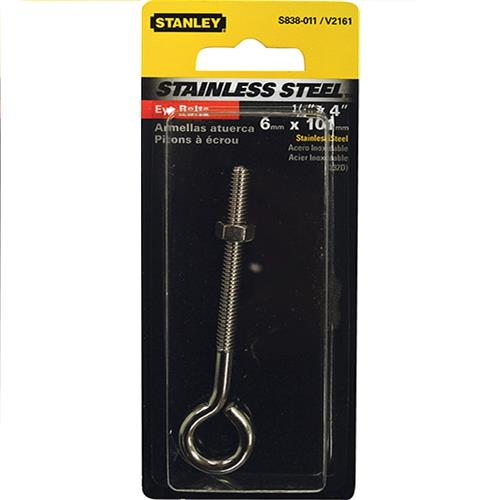 "Wholesale STAINLESS EYE BOLT 1/4"" x 4"""