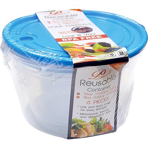 Wholesale 3PK LOCK & VENT FOOD CONTAINER