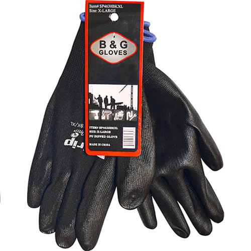 Wholesale BLACK PU DIPPED PGRIP GLOVE XL