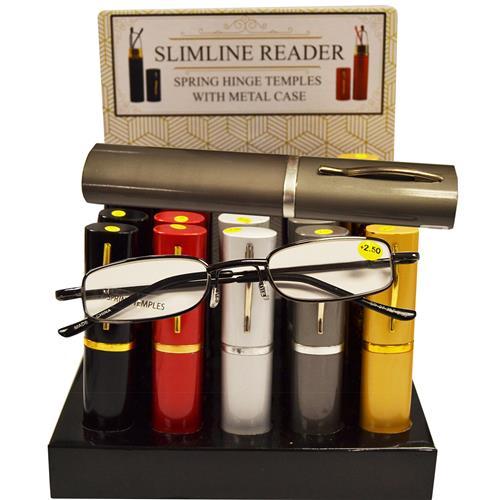Wholesale TUBE READER SPRING TEMPLE METAL FRAMES & TUBE