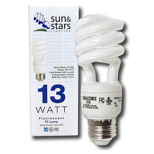 Wholesale 13 WATT CFL SPIRAL LIGHT BULB