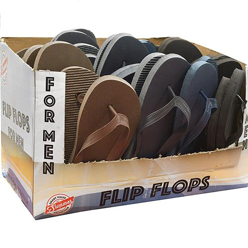 Wholesale FLIP FLOPS SOLID COLOR MEN ASS