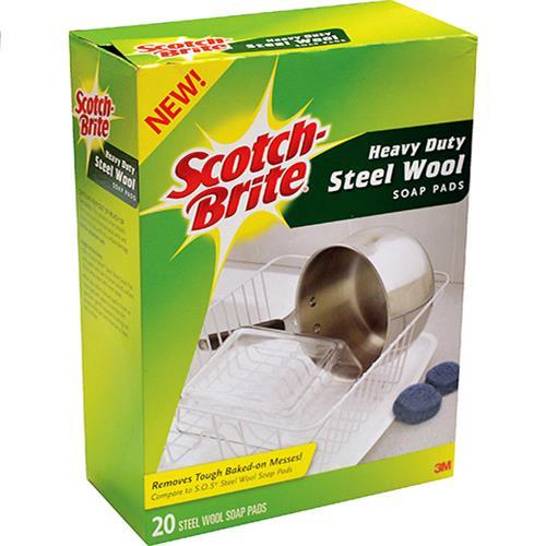Wholesale 20PK STEEL WOOL SOAP PADS