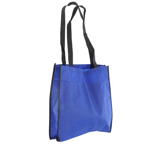 Wholesale BLUE NONWOVEN PP BAG 15.5x14.75x4'' 80 GSM 30'' STRAPS