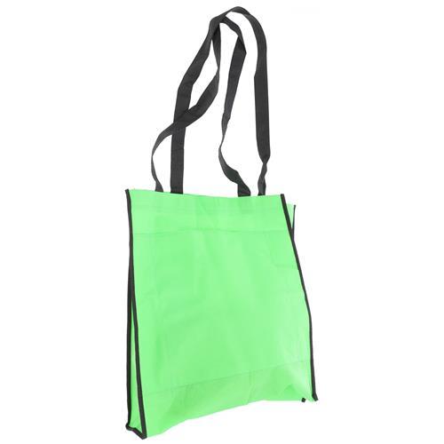 Wholesale GREEN NONWOVEN PP BAG 15.5x14.75x4'' 80 GSM 30'' STRAPS