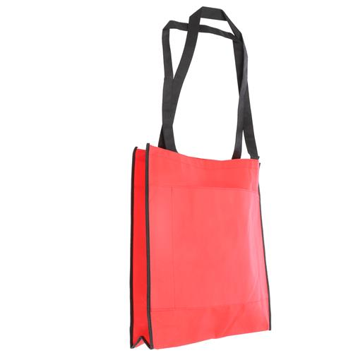 Wholesale RED NONWOVEN PP BAG 15.5x14.75x4'' 80 GSM 30'' STRAPS