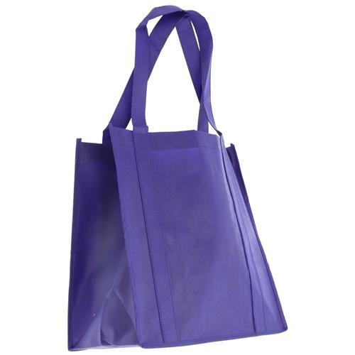 Wholesale PURPLE NONWOVEN PP BAG 12.5x13.75x8'' 100 GSM 22'' STRAPS