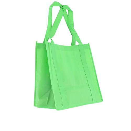Wholesale LIME GREEN NONWOVEN PP BAG 12.5x13.75x8'' 100 GSM 22'' STRAPS